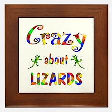 Crazy About Lizards Framed Tile