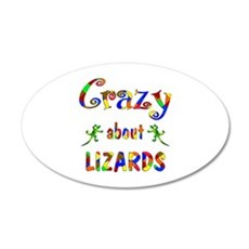 Crazy About Lizards Wall Decal