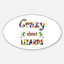 Crazy About Lizards Decal