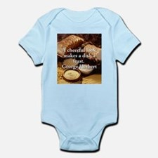 A Cheerful Look - George Herbert Infant Bodysuit