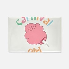Carnival Girl Rectangle Magnet