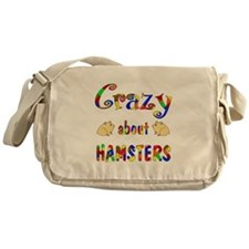 Crazy About Hamsters Messenger Bag
