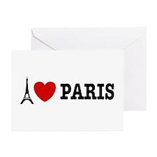I Love Paris Greeting Cards (Pk of 10)