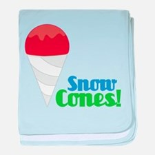 Snow Cones baby blanket