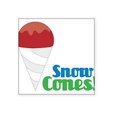 """Snow Cones Square Sticker 3"""" x 3"""""""