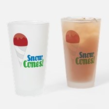 Snow Cones Drinking Glass