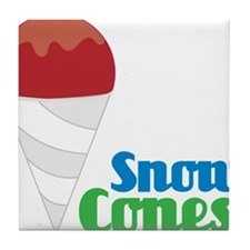 Snow Cones Tile Coaster