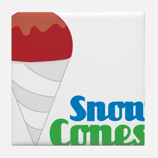 Snow Cones Tile Coaster