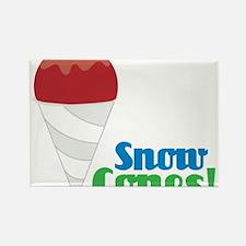 Snow Cones Rectangle Magnet