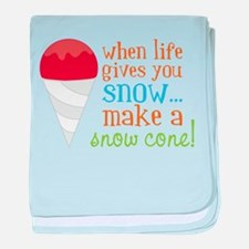Make A Snow Cone baby blanket
