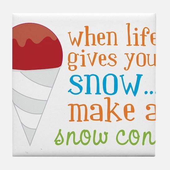 Make A Snow Cone Tile Coaster