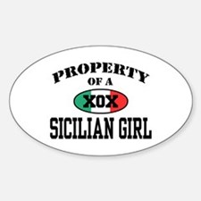 Property of a Sicilian Girl Oval Decal