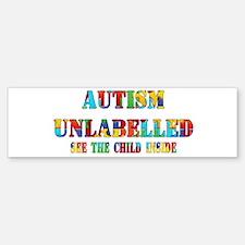 Autism Unlabelled Puzzle Bumper Bumper Sticker