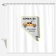 Area 51 Perimeter Patrol Shower Curtain