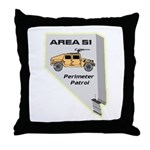 Area 51 Perimeter Patrol Throw Pillow
