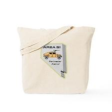 Area 51 Perimeter Patrol Tote Bag