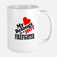 My Heart Belongs to a HOT Firefighter! Mug