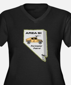 Area 51 Perimeter Patrol Women's Plus Size V-Neck