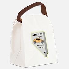 Area 51 Perimeter Patrol Canvas Lunch Bag