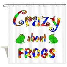 Crazy About Frogs Shower Curtain