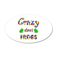 Crazy About Frogs Wall Decal