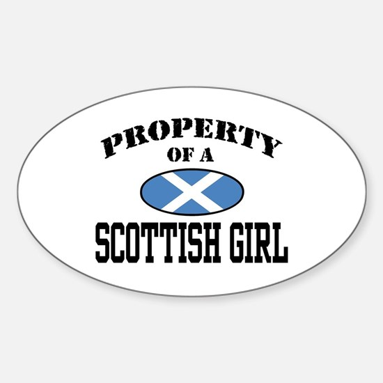 Property of a Scottish Girl Oval Decal