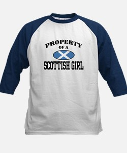 Property of a Scottish Girl Kids Baseball Jersey