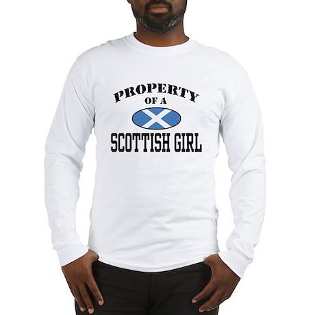 Property of a Scottish Girl Long Sleeve T-Shirt