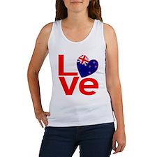 New Zealander Red LOVE Women's Tank Top