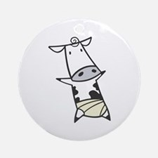 Baby Cow in Diaper Ornament (Round)