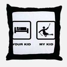 Challenged Sled Hockey Throw Pillow