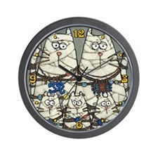 Cat Mummies Wall Clock