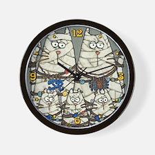 Cat Mummies Wall Clock