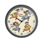 Nymphs and Saters Wall Clock