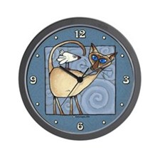 Siamese Wall Clock