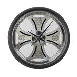 MC Wheel Large Wall Clock