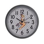 Spark Plug Gurl Wall Clock