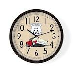 California 66 Wall Clock