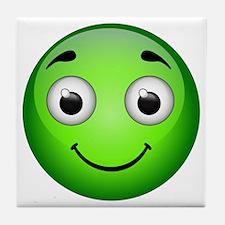 Green Smiley Tile Coaster