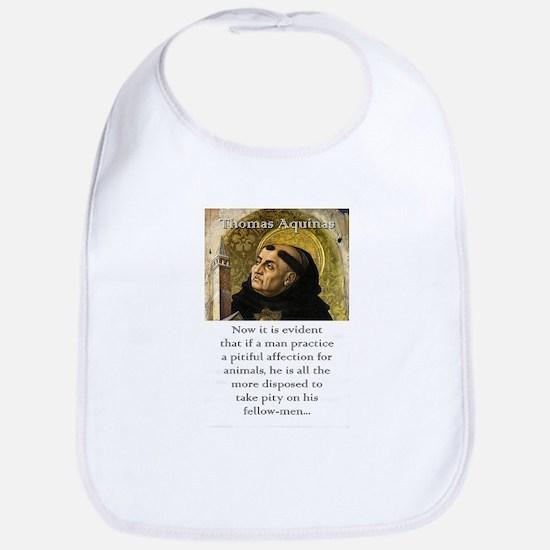 Now It Is Evident - Thomas Aquinas Cotton Baby Bib