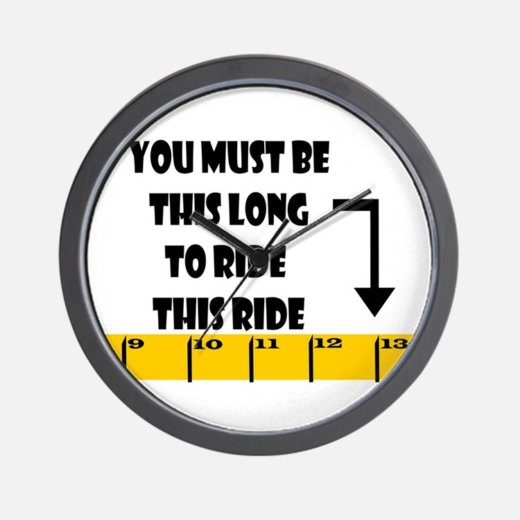 Ruler This Long to Ride Wall Clock
