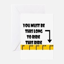 Ruler This Long to Ride Greeting Cards (Package of