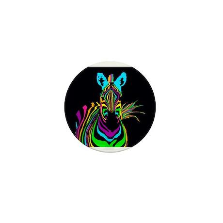 zebra Mini Button