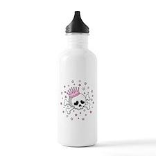 Cute Princess Skull Water Bottle