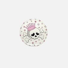Cute Princess Skull Mini Button