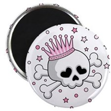 Cute Princess Skull Magnet