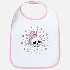 Cute Princess Skull Bib