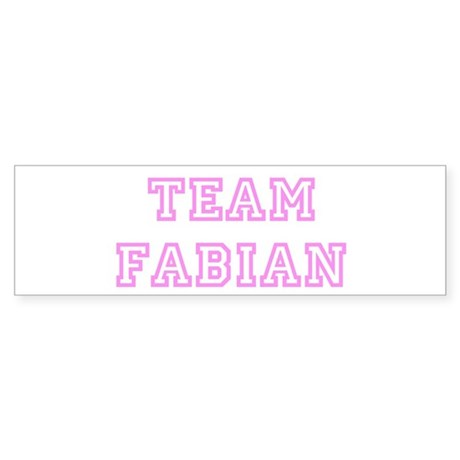 Pink team Fabian Bumper Sticker
