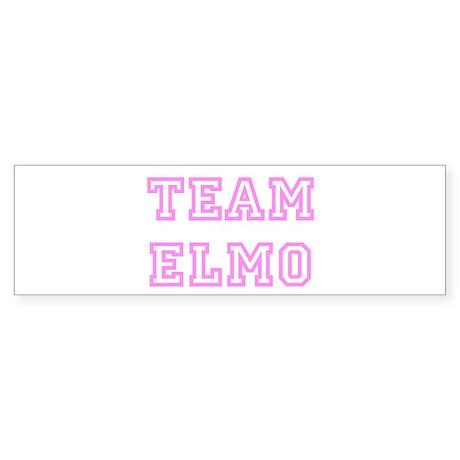 Pink team Elmo Bumper Sticker