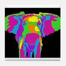 Rainbow Elephant Tile Coaster